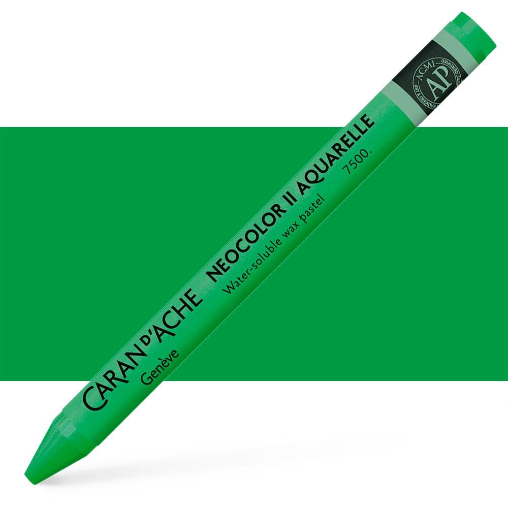 Caran d'Ache : Neocolor II : Watercolour Crayon : Emerald Green