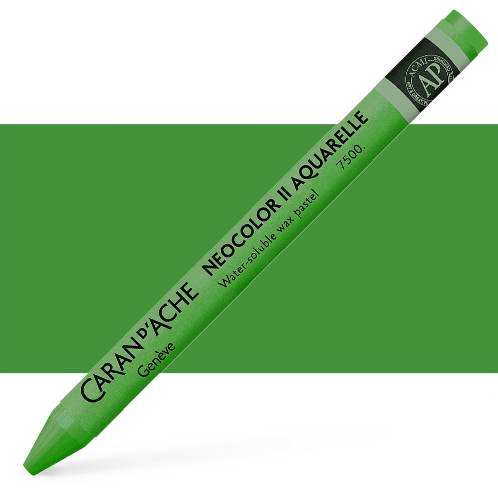 Caran d'Ache : Neocolor II : Watercolour Crayon : Moss Green