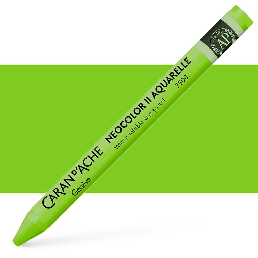 Caran d'Ache : Neocolor II : Watercolour Crayon : Yellow Green