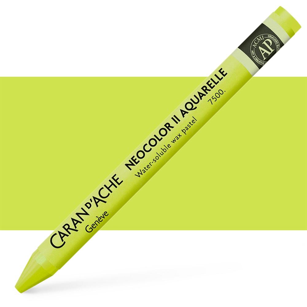 Caran d'Ache : Neocolor II : Watercolour Crayon : Lime Green