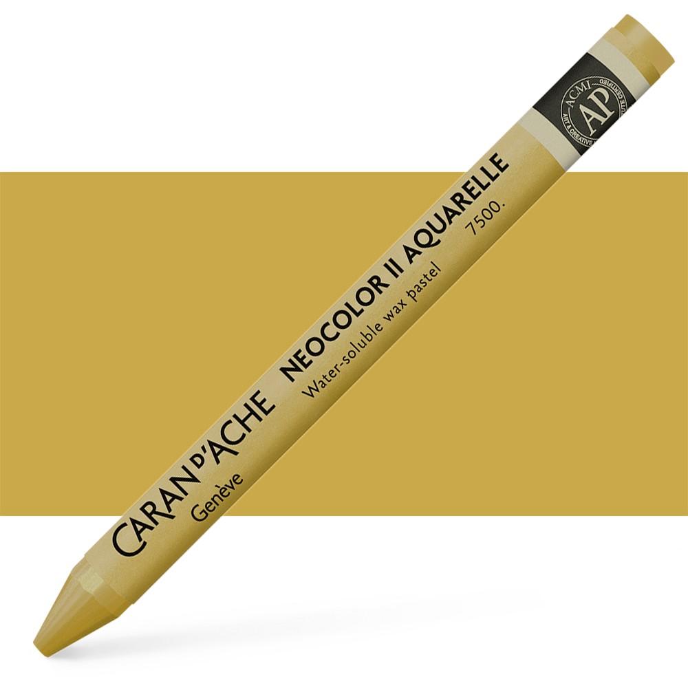 Caran d'Ache : Neocolor II : Watercolour Crayon : Gold