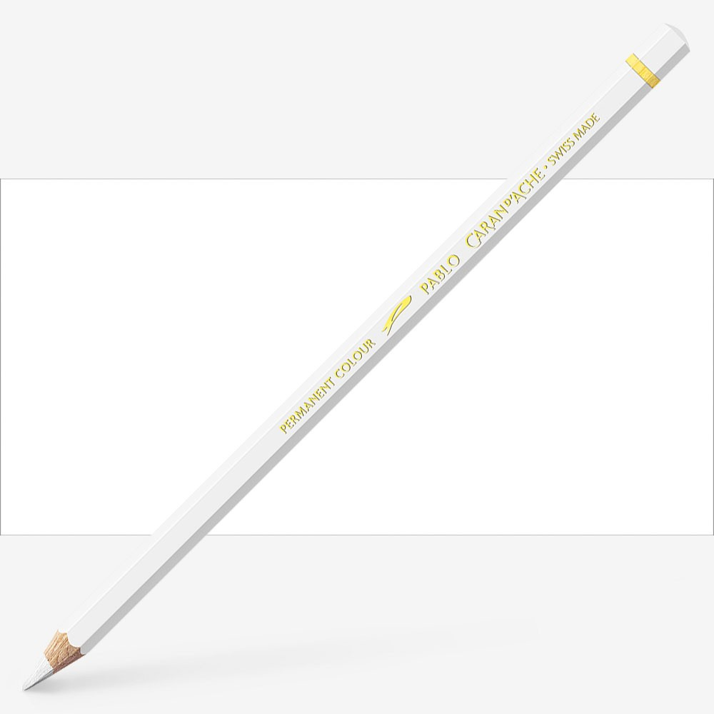 Caran d'Ache : Pablo Coloured Pencil : White 001