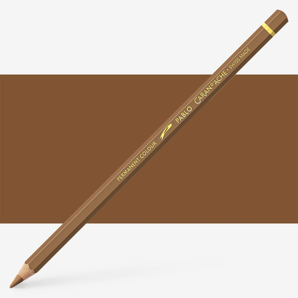 Caran d'Ache : Pablo Coloured Pencil : Brown Ochre 037