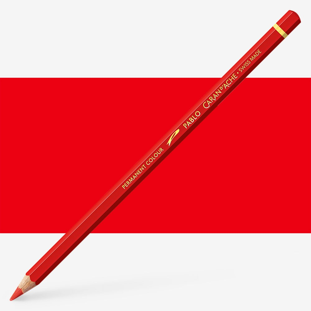 Caran d'Ache : Pablo Coloured Pencil : Scarlet 070