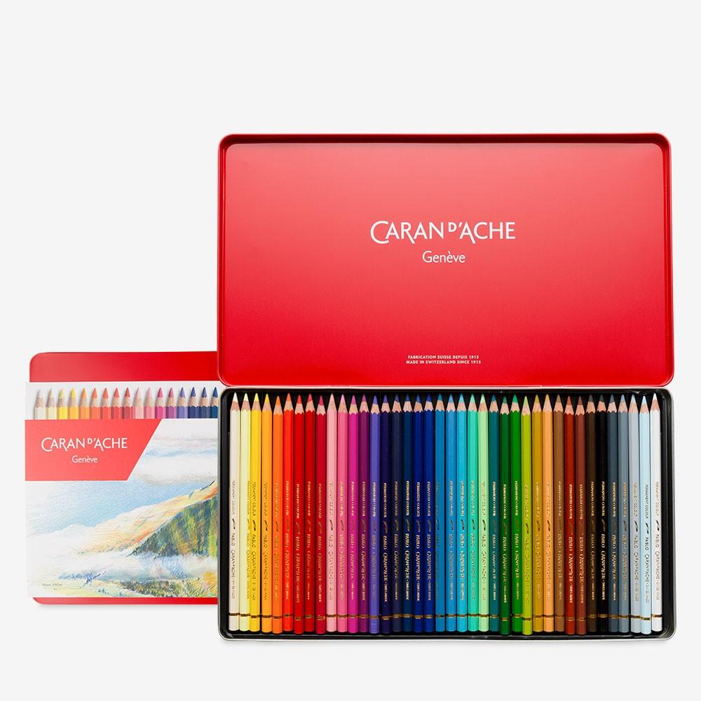 Caran D/'ache Pablo Coloured Pencil 40 Colour Tin