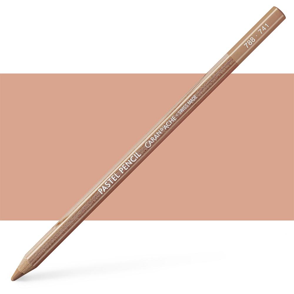 Caran d'Ache : Pastel Pencil : Dark Flesh 5 Percent