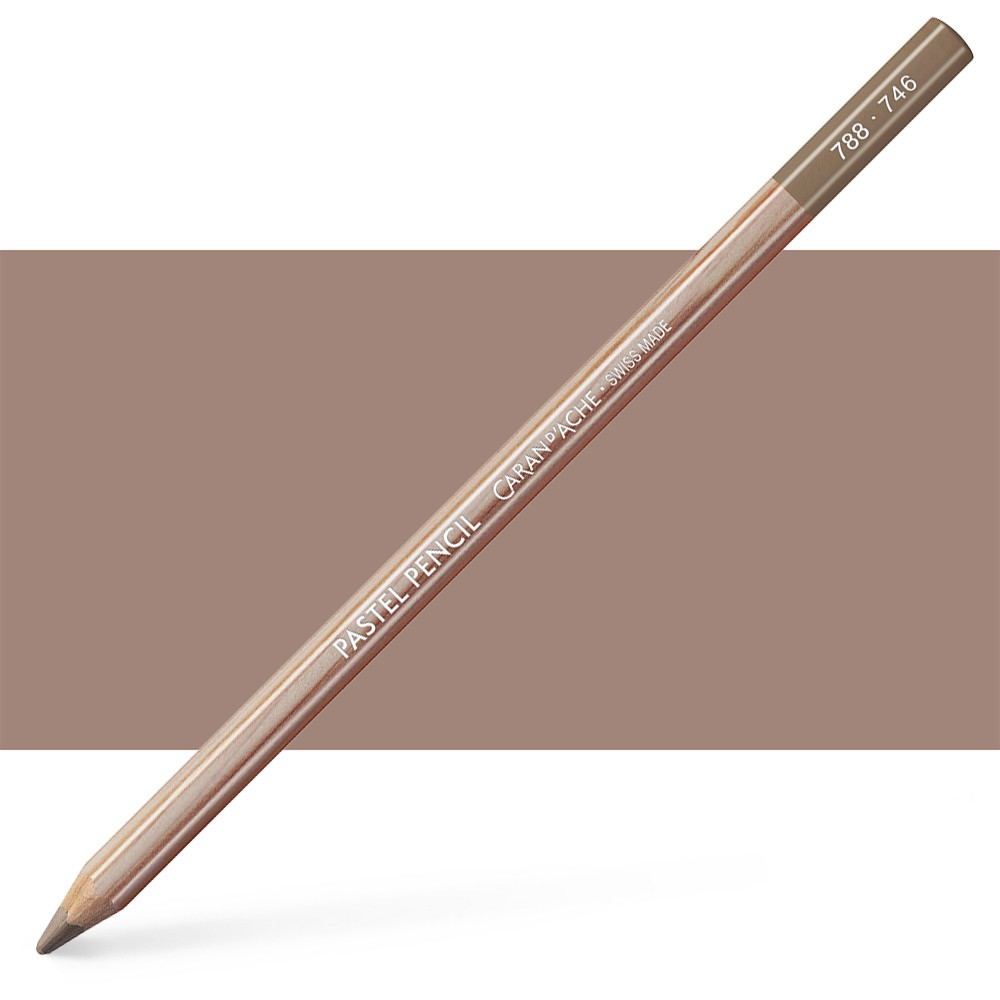Caran d'Ache : Pastel Pencil : Dark Flesh 50 Percent