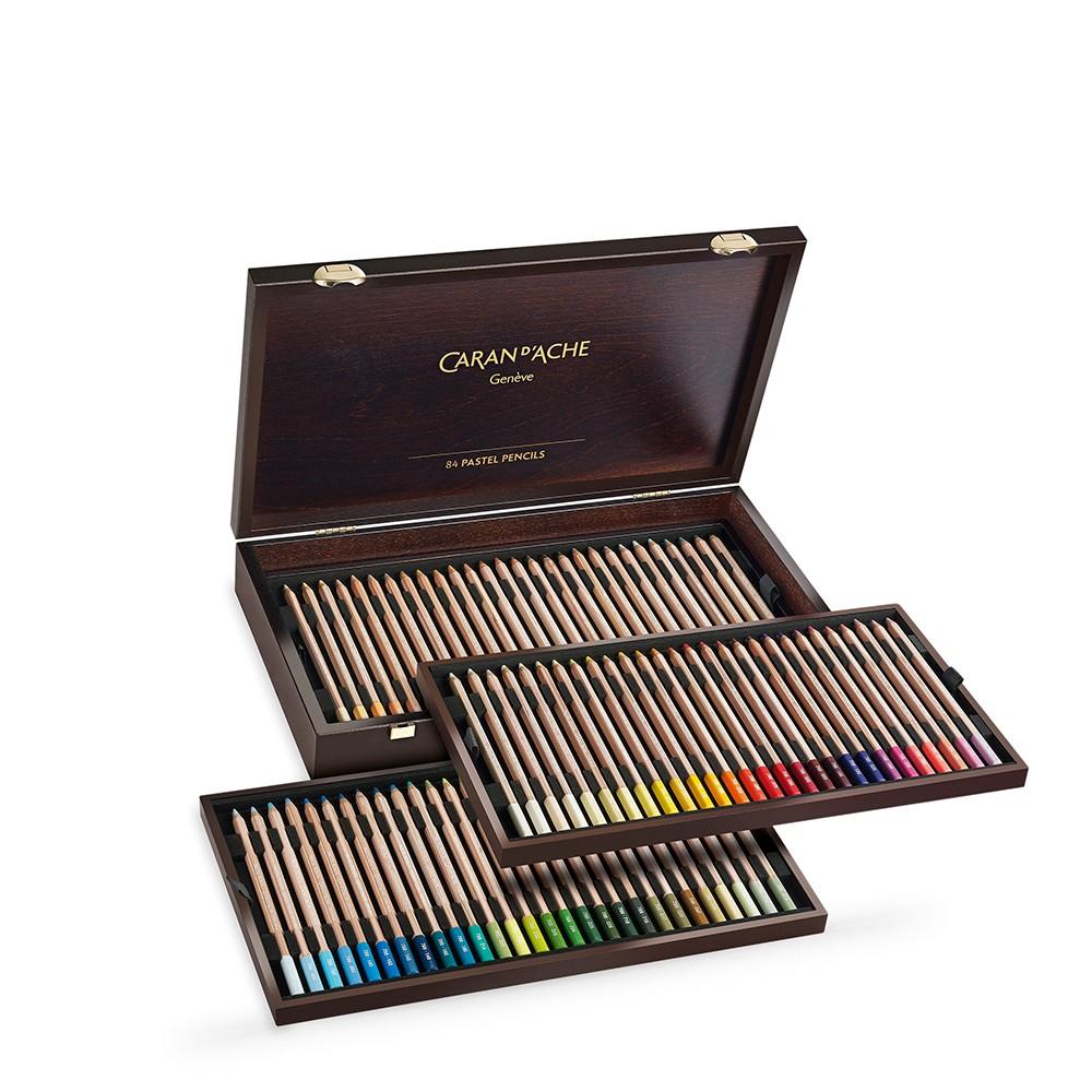 Caran d'Ache : Pastel Pencil : Wooden Box Set of 84