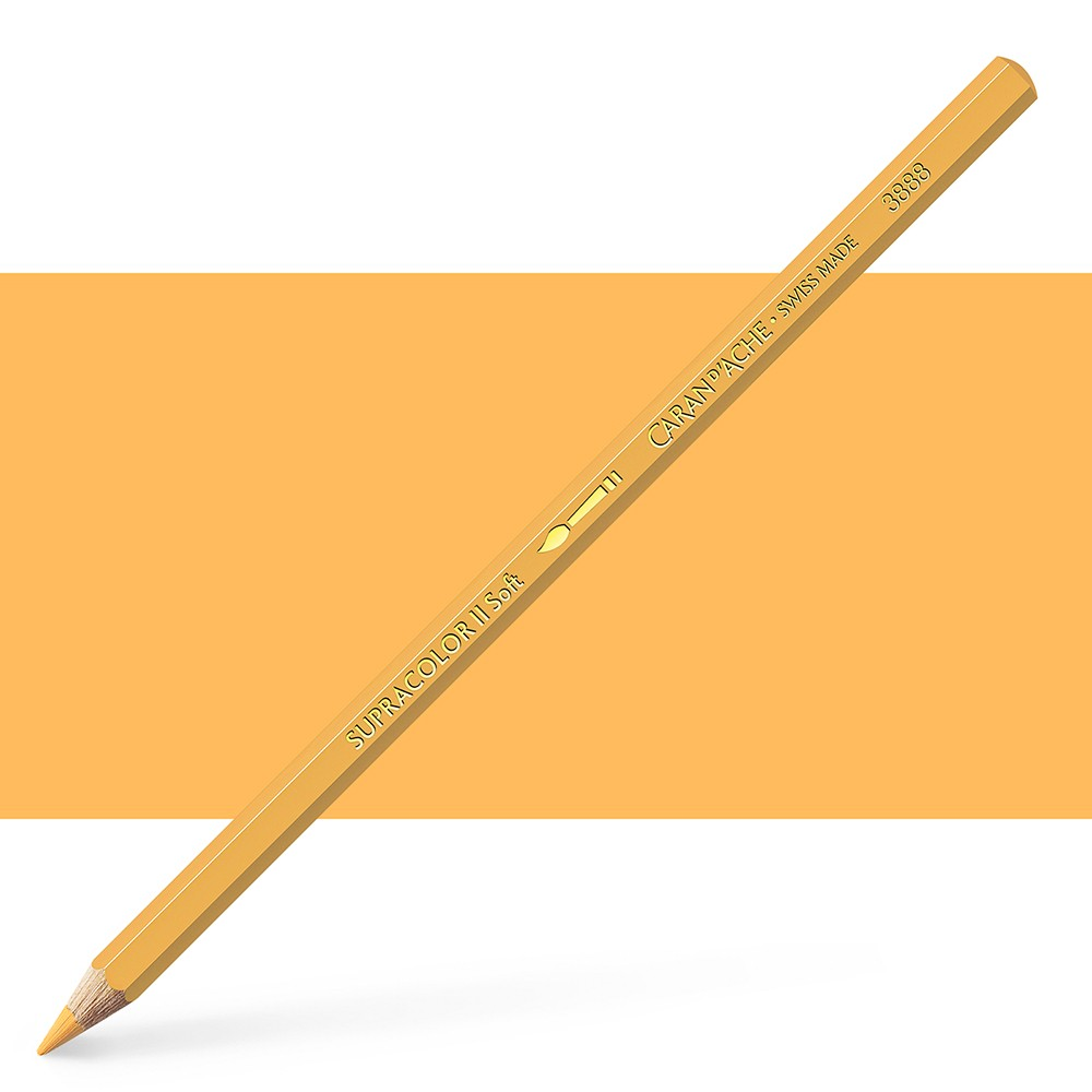 Caran d'Ache : Supracolor Soft : Watersoluble Pencil : Orangish Yellow