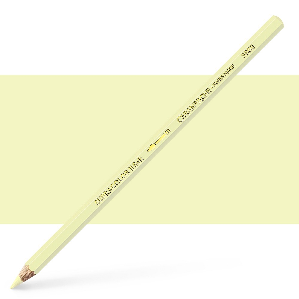 Caran d'Ache : Supracolor Soft : Watersoluble Pencil : Light Lemon Yellow