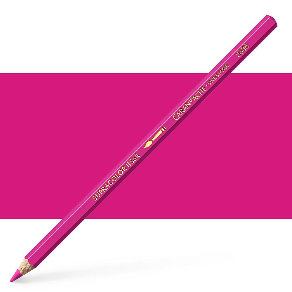 Caran d'Ache : Supracolor Soft : Watersoluble Pencil : Purplish Red