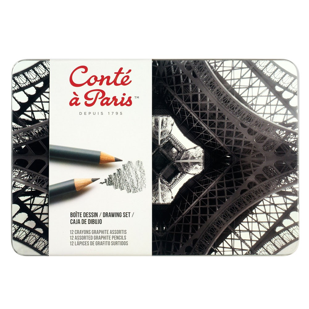 Conte : Graphite Pencil : Drawing Set of 12 LE
