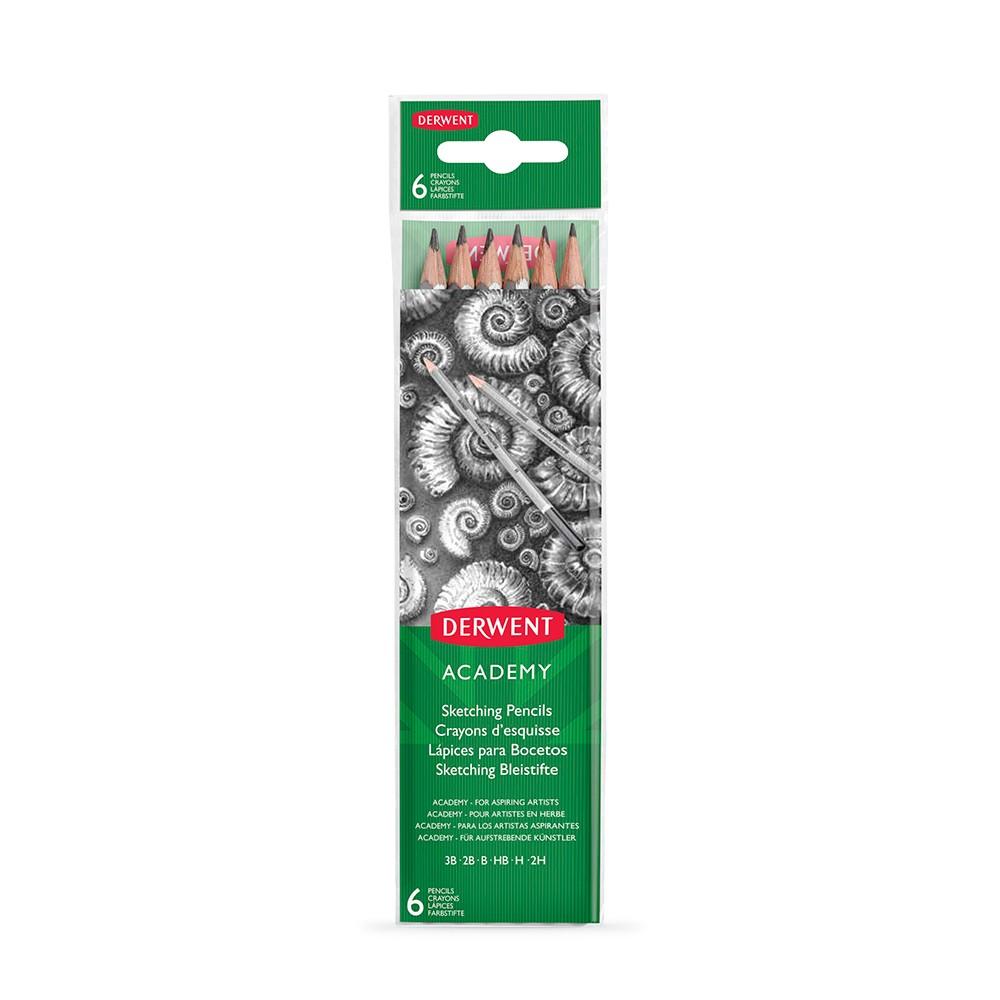 Derwent : Academy Sketching Pencil : Carton of 6