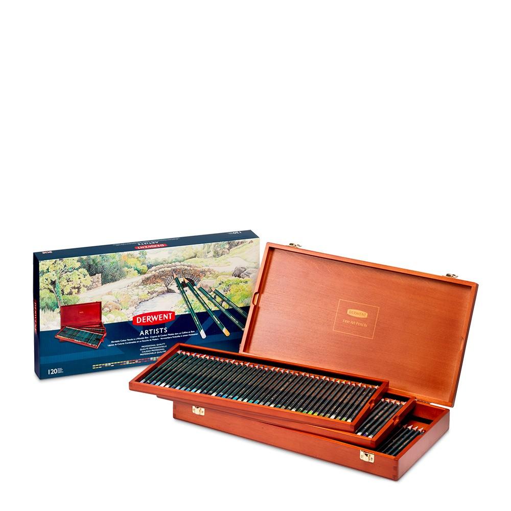 Derwent : Artists Coloured Pencil : Wooden Box Set of120