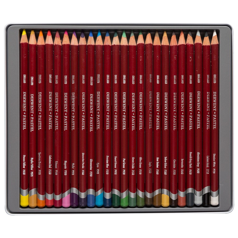 Derwent : Pastel Pencil : Tin Set of 24