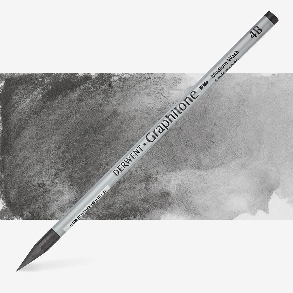 Derwent : Graphitone Watersoluble Graphite Pencil : 4B