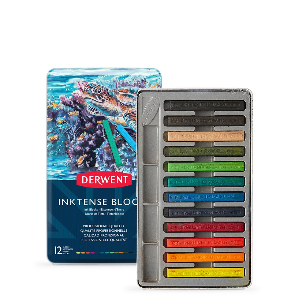 Derwent : Inktense Block : Tin Set of 12