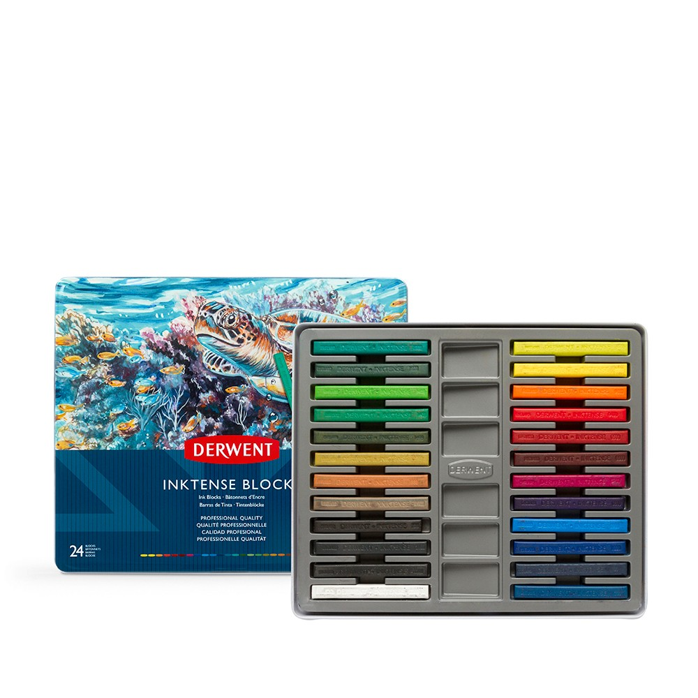 Derwent : Inktense Block : Tin Set of 24