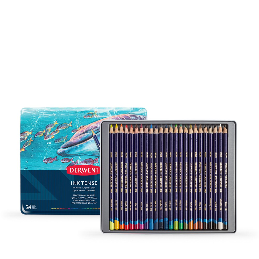 Derwent : Inktense Pencil : Tin Set of 24