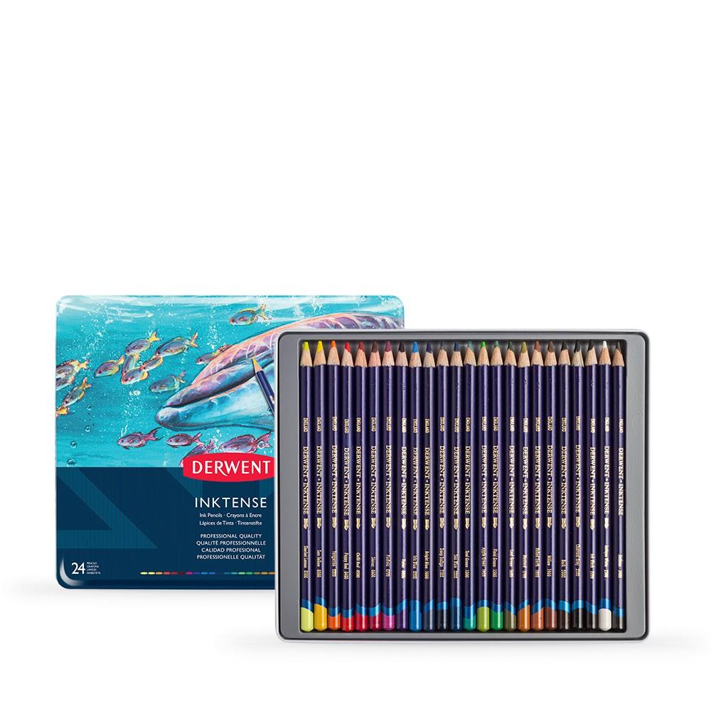 Derwent : Inktense Pencil : Tin Set of 24