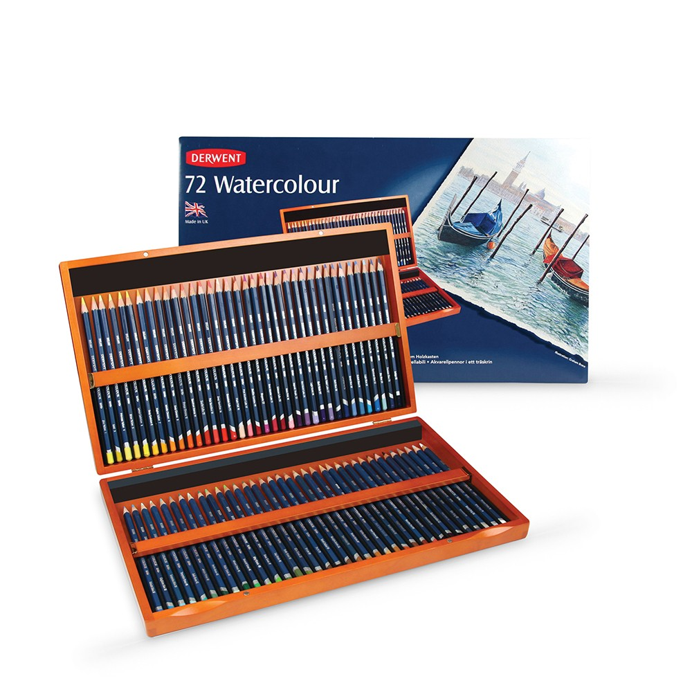 Derwent : Watercolour Pencil : Wooden Box Set of 72