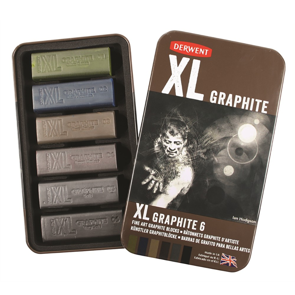 Derwent : XL Graphite : Tin of 6