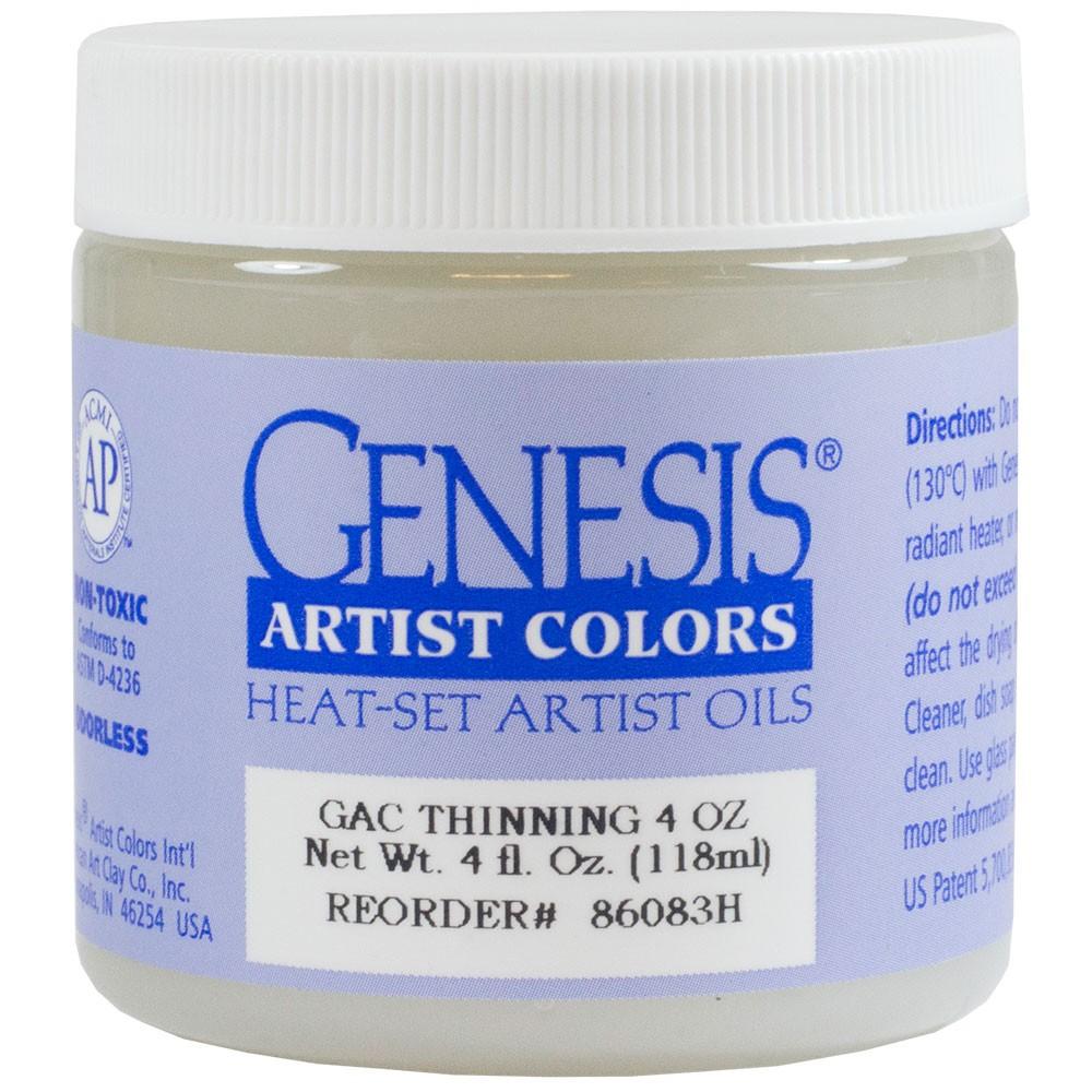Genesis Heat Set Oil Paint : Medium THINNING MEDIUM 118ml (4 oz) jar