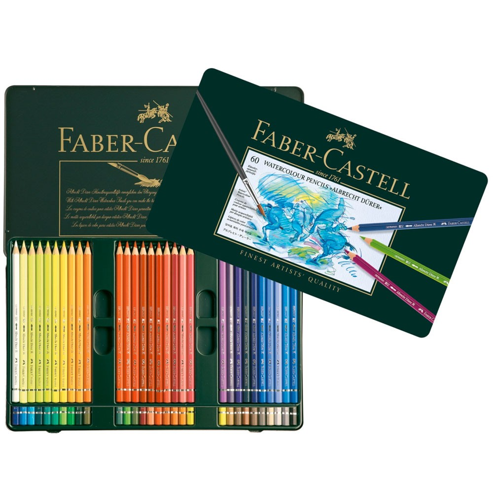 Faber Castell : Albrecht Durer Watercolour Pencil : Metal Tin Set of 60