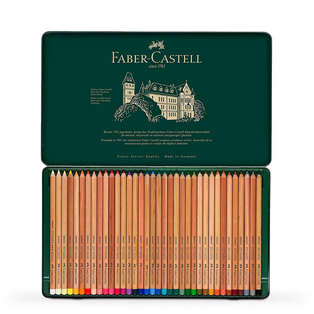 Faber Castell : Pitt Pastel Pencil : Metal Tin Set of 36