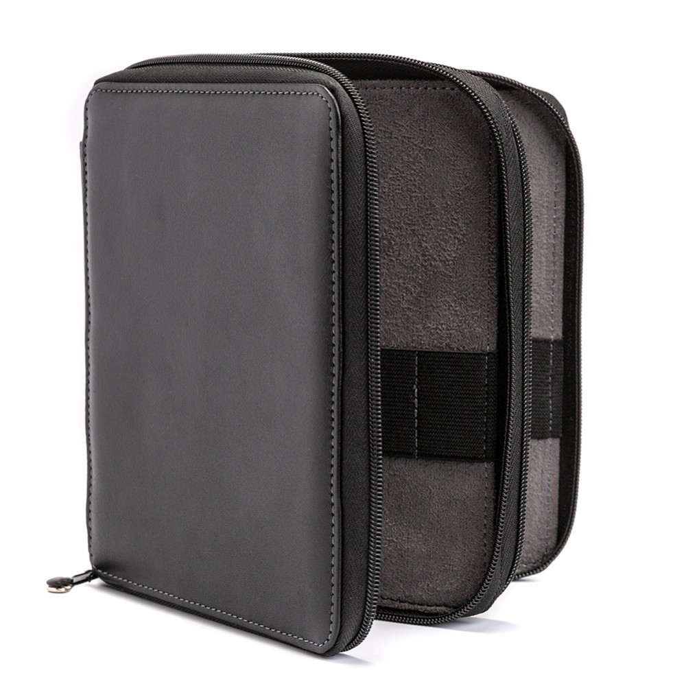 Global : Leather Black Folding Colour Pencil Case Holds 72