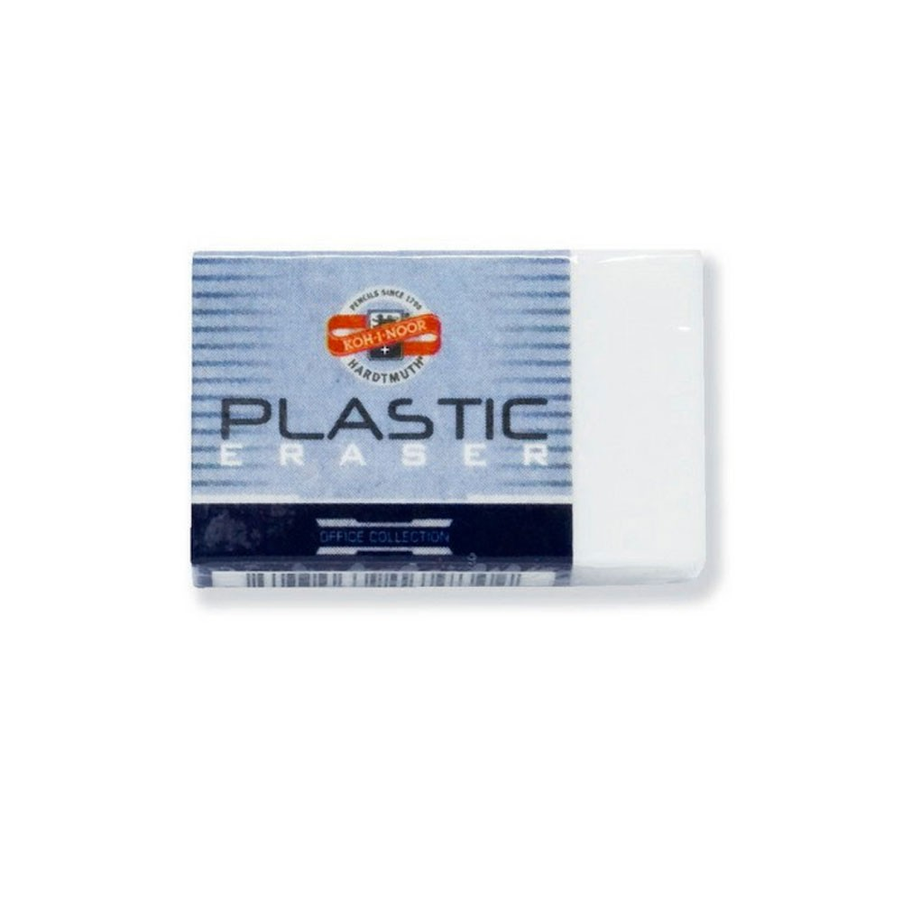Koh-I-Noor : White Oblong Plastic Eraser 4770 : 30mm