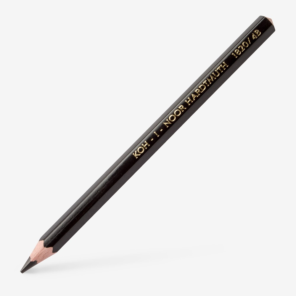 Koh-I-Noor : Jumbo Graphite Pencil 1820 : 10mm Diameter : 4B