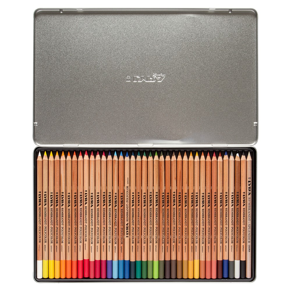 Lyra : Rembrandt Polycolor Coloured Pencil Set : Metal Box 36 pcs