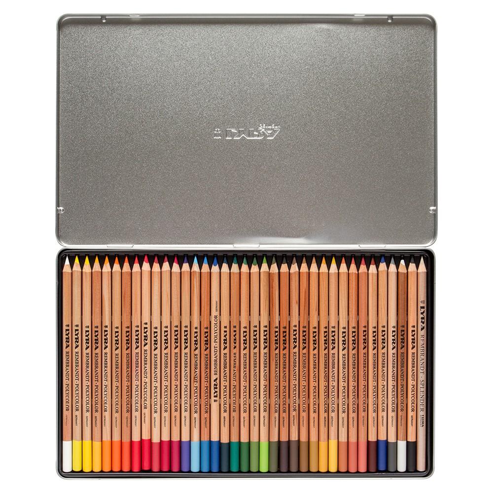 Lyra : Rembrandt Polycolor Coloured Pencil Set : Metal Box 36 pcs