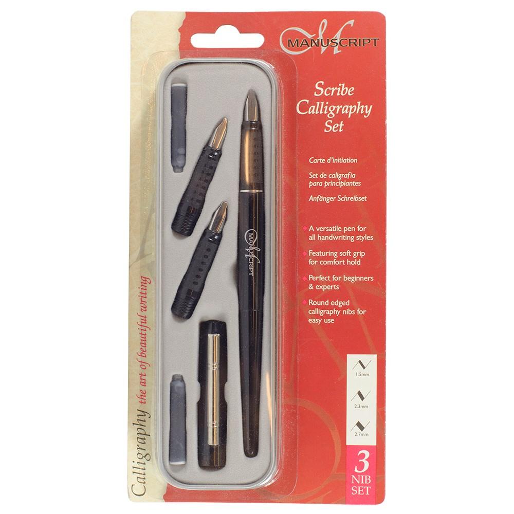 Manuscript Scribe Calligraphy Set (3 NIB) set 1.5mm, 2.3mm & 2.7mm