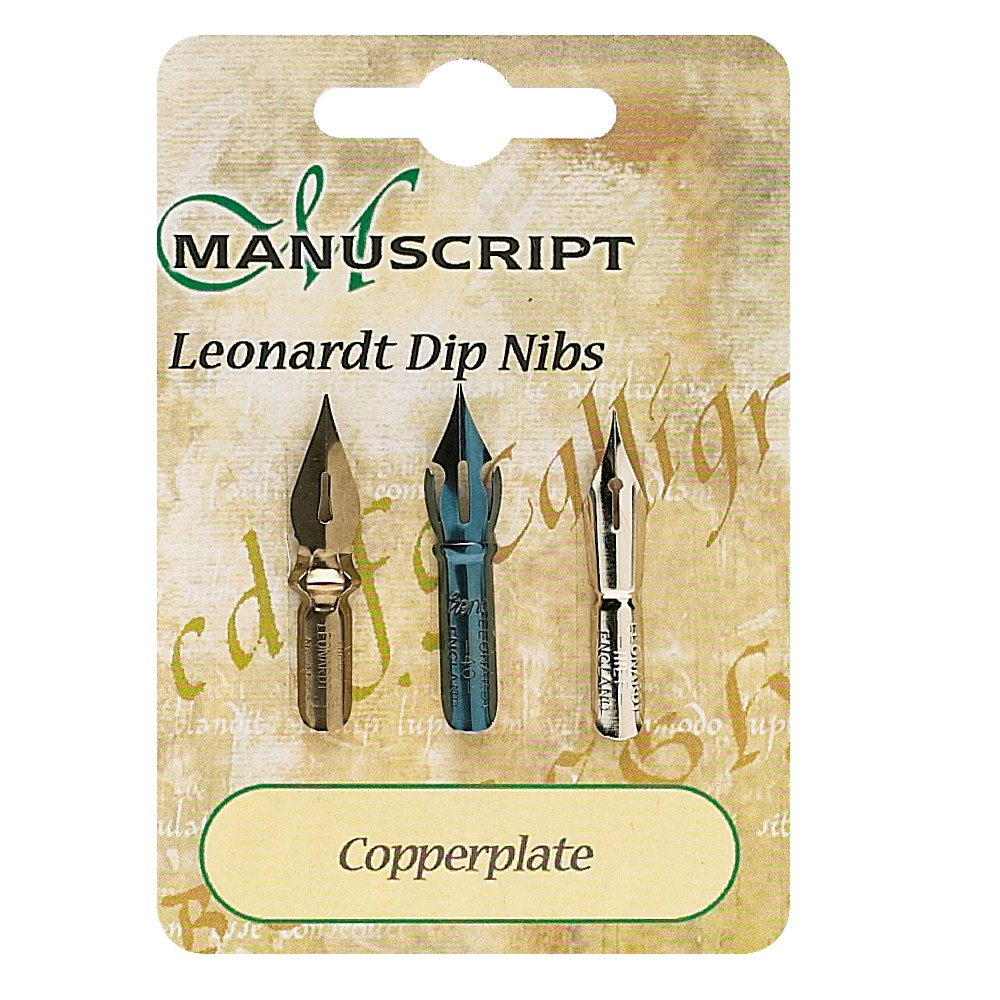 Manuscript : 3 Carded Nibs Copperplate
