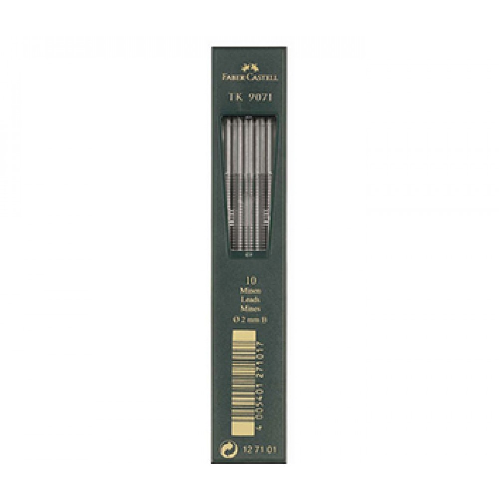 Faber Castell : TK9400 Clutch Pencil Leads : Pack of 10 : 2mm : B