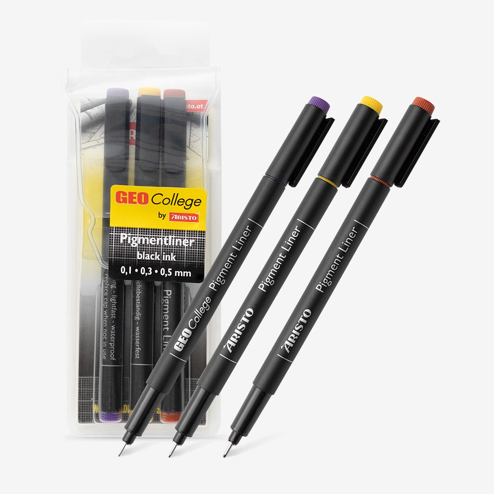 Aristo : Set of 3 GEO College Pigment Liner Pens