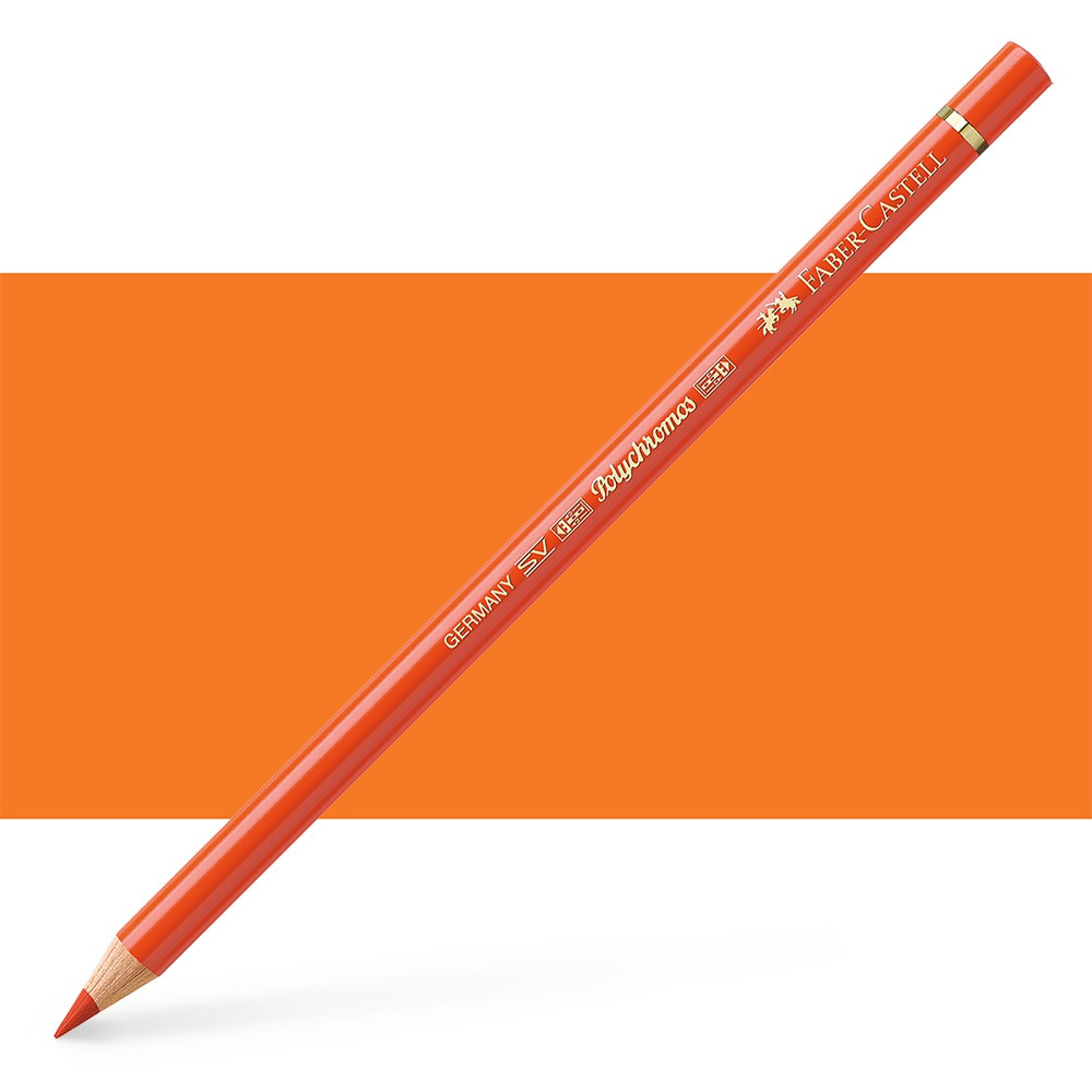 Faber Castell : Polychromos Pencil : Dark Cadmium Orange
