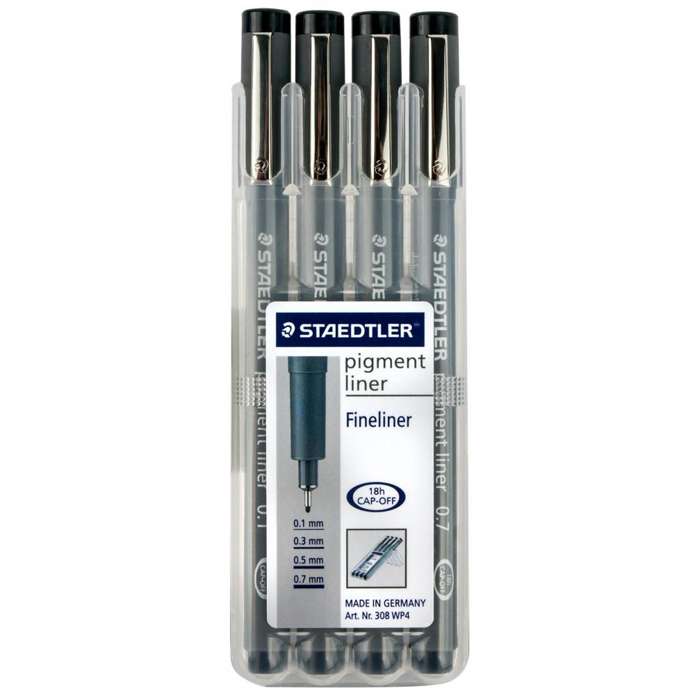 Staedtler : Pack of 4 Pigment Liner Pens