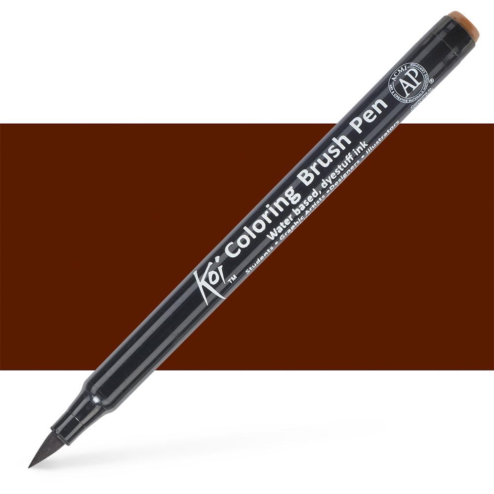 Sakura : Koi : Color Brush Pen : Brown