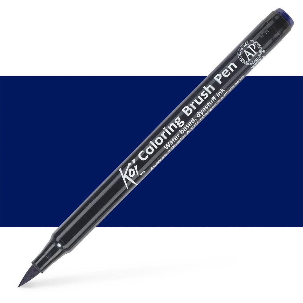 Sakura : Koi : Color Brush Pen : Prussian Blue