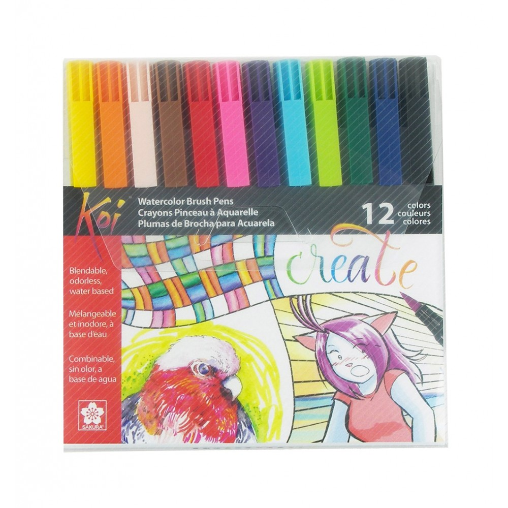Sakura : Koi : Color Brush Pen : Set of 12