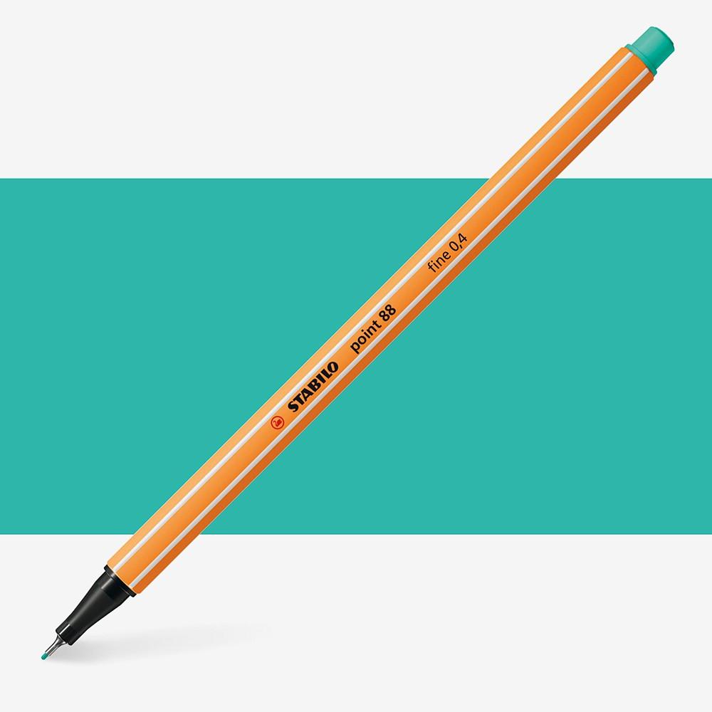 Stabilo : Point 88 : Watersoluble Fineliner Pen : 0.4mm : Ice Green