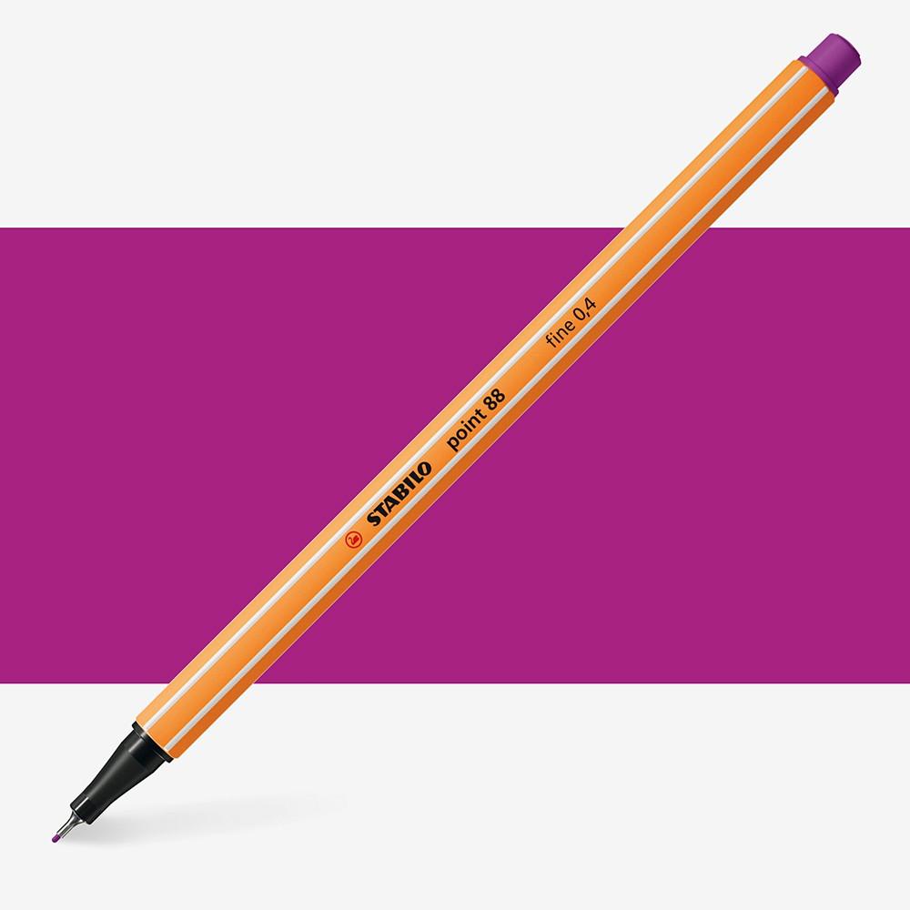 Stabilo : Point 88 : Watersoluble Fineliner Pen : 0.4mm : Lilac