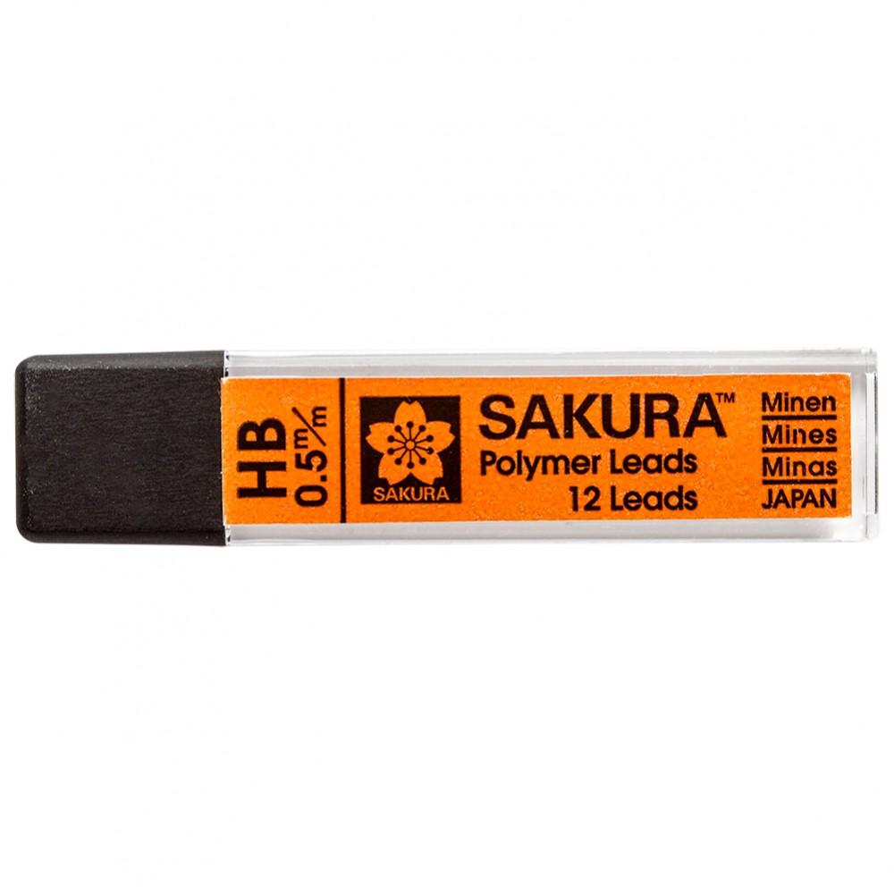 Sakura : Polymer Lead Refill : HB : 0.5 mm