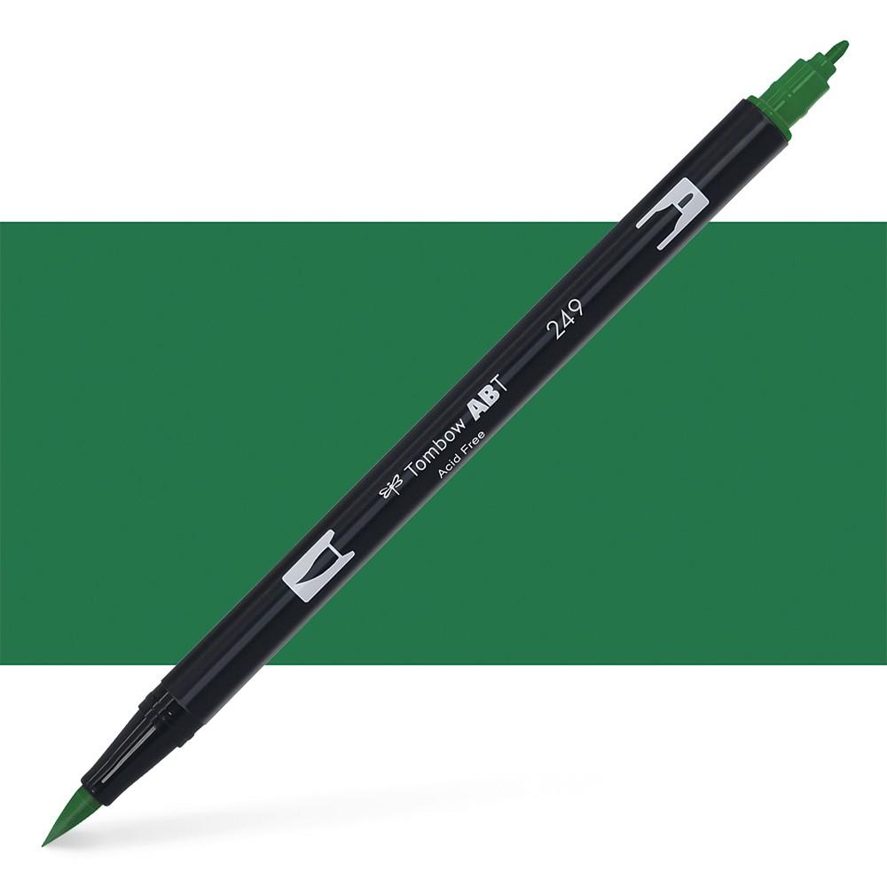 Tombow : Dual Tip Blendable Brush Pen : Hunter Green