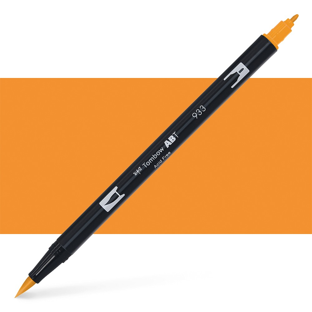 Tombow : Dual Tip Blendable Brush Pen : Orange