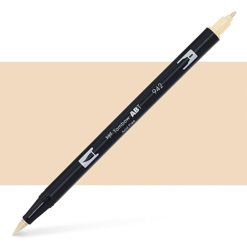 Tombow : Dual Tip Blendable Brush Pen : Tan