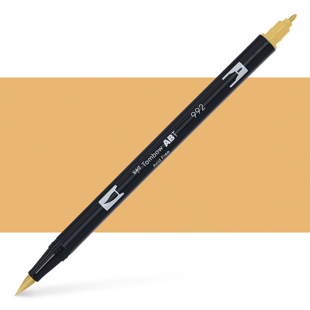 Tombow : Dual Tip Blendable Brush Pen : Sand